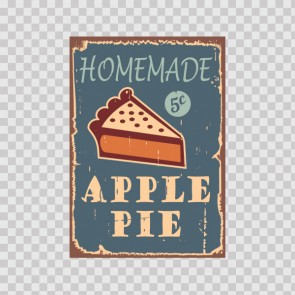 Homemade Apple Pie Vintage Sign 12205