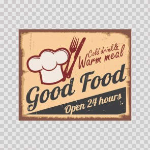 Good Food Vintage Sign 12210
