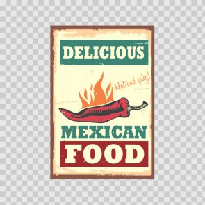 Delicious Mexican Food Vintage Sign 12218