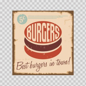 Burgers Vintage Sign 12221