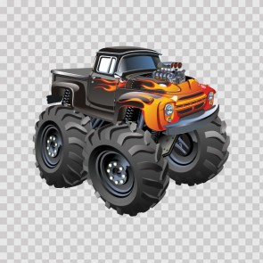 Monster Track Caricature 12229