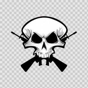 Cross Gun Skull 12238