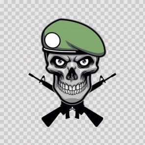Cross Gun Skull 12239