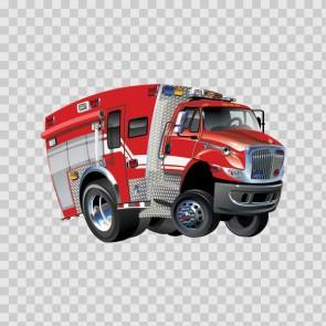 Fire Truck Pump Car Caricature 12276