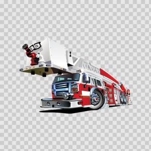 Fire Truck Pump Car Caricature 12315