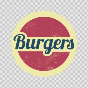 Burgers Shop Sign 12797