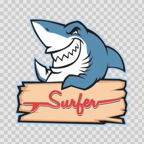 Surfer Shark Beach 12805