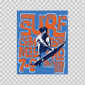 Surf Graphic Sign 12821