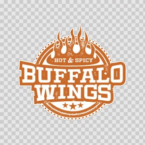 Buffalo Wings Bbq Sign 12914