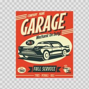 Garage Vintage Sign 12934