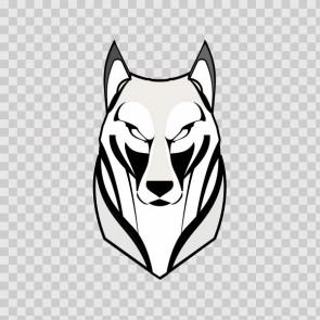 Wolf Head Lineart 13002