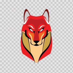 Red Wolf Head 13007