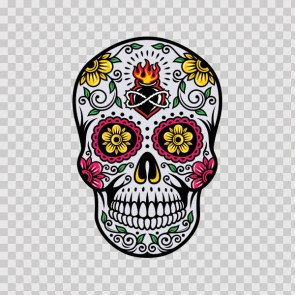 Floral Skull 13012