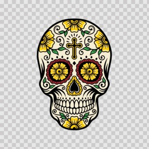 Floral Skull 13013