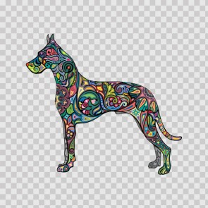 Domestic Floral Dog 13062