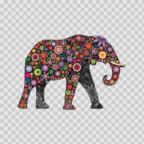 Floral Elephant 13110