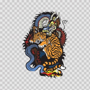Dragon Tiger Composition 13121