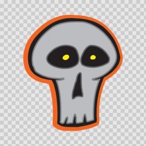 Grey Minimal Skull 13137