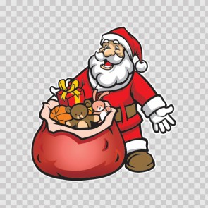 Santa Claus With Gifts 13148