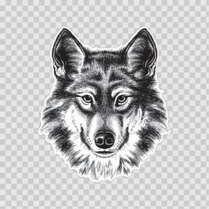 Wolf Head Lineart 13155