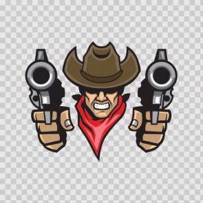 Cowboy With Guns 13171