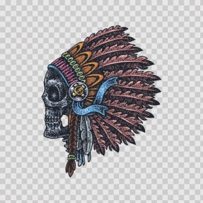 Indian Native Skull Tattoo Style 13286