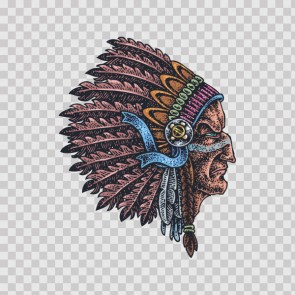 Indian Native Chief Tattoo Style 13288