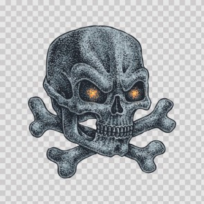 Crossbone Skull  Tattoo Style 13294