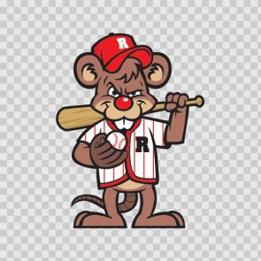 Baseball Rat Mascot 13327