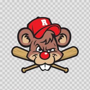 Baseball Rat Mascot 13328