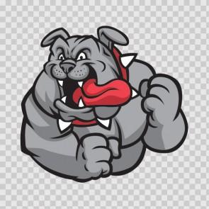 Bulldog Mascot 13331