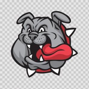 Bulldog Mascot 13332