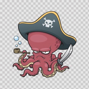 Pirate Octopus With Pipe 13342