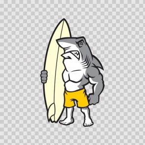 Surfboard Shark Surfer 13351