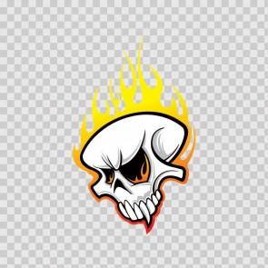 Flamed Skull 13395