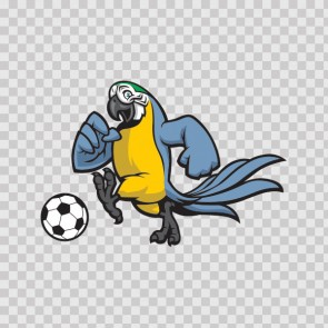 Parrot Football Soccer Player 13421