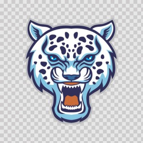 White Panther Head 13820