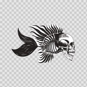 Fishbone Skull 13842