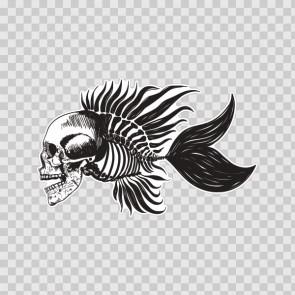 Fishbone Skull 13843