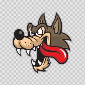 Wolf Head Cartoon 13862