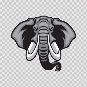 Elephant Head Mascot 13865