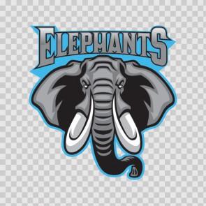 Elephant Head Mascot 13866