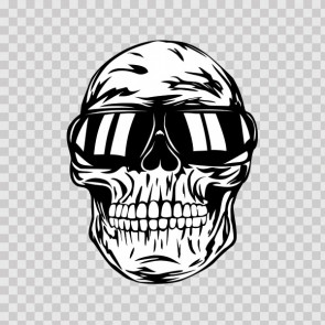 Cool Skull With Sunglasses 13880