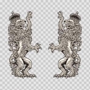 Lion Heraldic 13915