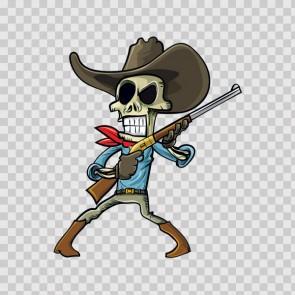 Outlaw Cowboy Skull 13924
