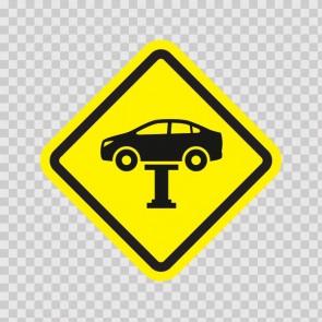 Auto Repair Mechanic Area Sign 13942