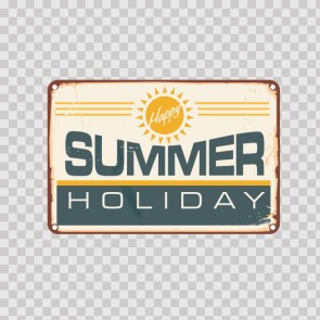 Vintage Summer Holiday Sign 13952