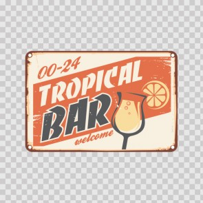 Vintage Tropical Bar Sign 13954