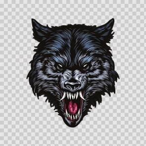 Angry Wolf Head 13974