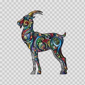 Floral Antilope Goat Gazelle 13980